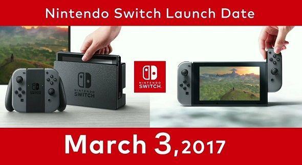 任天堂Switch发售日3月3日 任天堂Switch售价300美元